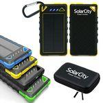 8000 mAh Dual-USB Water Resistant Solar Power Bank Battery Charger
