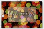 Holiday Lights Greeting Card Logo Branded