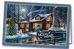 Magic in the Night Holiday Greeting Card Custom Printed