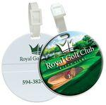 Custom Imprinted Domed Round Golf Bag Tag