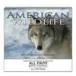 Stapled Wall Calendar (North American Wildlife) Logo Branded