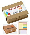 Eco-Recycled Memo Case w/ Sticky Notes & Flags Logo Branded