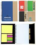 Eco-Recycled Journal w/ Sticky Notes & Flags Custom Printed