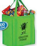 "Heavy Duty Non-Woven Grocery Tote Bag w/Insert and Full Color (13""x10""x15"") - Color Evolution Custom Printed"