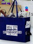 "Side Pocket Non-Woven Tote Bag (20""x6""x16"") - Screen Print Custom Printed"