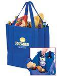 "Logo Branded Wine & Grocery Combo Tote Bag w/Insert (13""x10""x15"") - Screen Print"