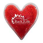 Heart Gel Bead Hot/Cold Pack (Spot Color) Custom Printed