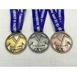 "2.5"" customized shape enamel Medal with full color process ribbon Custom Printed"