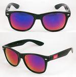 Plastic Sunglasses w/Mirror Glass And Silver Dots Custom Imprinted