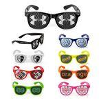 Logo Branded Plastic Sunglasses w/Sticker Logo On The Glass