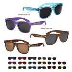 Logo Branded Plastic Sunglasses w/PP Frame And Silver Dots