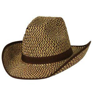Western Hat w/ Brown Trim & Band