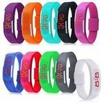 Simple Gel Rubber Bracelet Touch Screen LED Digital Display Unisex Sports Watch Logo Printed