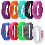 Simple Gel Rubber Bracelet Touch Screen LED Digital Display Unisex Sports Watch Custom Imprinted