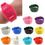 Logo Printed Magic Hidden Touch Screen LED Digital Watch Sport Cuff Wrist