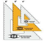 "Logo Branded Clear 45 Degree Triangle Drafting Instrument/ Ruler (4"")"