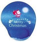 Logo Branded Christmas Silicone PU Wrist Rest Mouse Pad