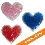 Custom Printed Heart Gel Beads Hot/Cold Pack
