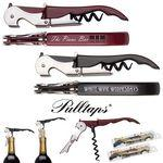 Pulltap's Double Hinged Waiters Corkscrew Custom Imprinted
