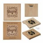 Logo Branded Wood Bottle Opener Coaster
