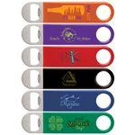 Custom Imprinted Color Wrapped Classic Paddle Bottle Opener