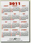 Custom Printed Jumbo Year-at-a-Glance Commercial Wall Calendar w/ Bottom Ad
