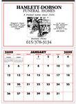 "Logo Branded Custom Color Apron Diary Wall Calendar (21""x29""/ 1 Color)"