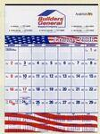 Custom Imprinted Contractor's Commercial Wall Calendar w/ Patriotic Bars