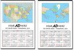 Jumbo World Map Wall Calendar Logo Branded