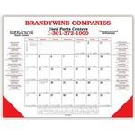 Desk Planner Calendar w/ 2 Leatherette Corners (2 Side Imprint) Logo Branded