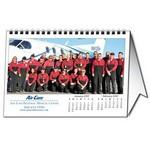 "Custom Horizontal Tent Desk Calendar (8.5""x5.5"") Custom Printed"
