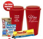 You Make A Difference Tumbler Mug (Red) Logo Branded