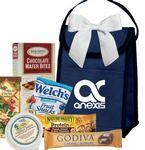 Navy Blue Lunch Bag w/Snacks Logo Branded