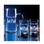 Custom Printed Skyline Classic Barware Pitcher & Glasses Set (5 Pieces)