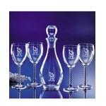 Custom Imprinted Celebration Decanter and Glasses 5 Piece Set