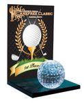 "Custom Imprinted Large Crystal Golf Award (6"")"