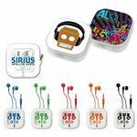 Logo Branded myBuds™ B24 In-Ear Headphones w/ Carrying Case