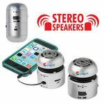 Logo Branded AudioStar A22 Silver Stereo Speaker Set