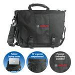 "Branded Brand Gear Portland Nylon Laptop Bag Briefcase (16""x13""x7"")"