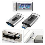 USBiD iDrive™ SuperSpeed 3.0 USB Flash Drive with Lightning Connector for iPhone and iPad (64GB) Imprinted Logo
