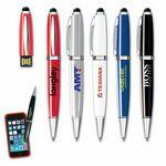 Custom Imprinted USB 2.0 Pen Flash Drive + Stylus iP (2GB)