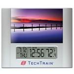 "Time Frame™ with Digital Clock & 4""x6"" Photo Frame Branded"