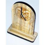 "5"" x 8"" - Wood Clocks - Desk or Mantle - Laser Engraved - Made in the USA Logo Branded"