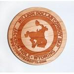 "Logo Branded 2"" x 2"" - Wood Magnets - Laser Engraved - USA-Made"