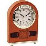 "5.5"" - Premium Leatherette Arch Desk Clock - Laser Engraved Custom Printed"