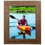 "Logo Branded 8"" x 10"" - Premium Leatherette Photo Frame - Laser Engraved"