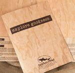 "9"" x 12"" - Wood Presentation Folders - 1 Sided Color Print - Made in the USA Custom Printed"