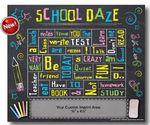 "School Days Words Plus Photo Frame Magnet (5 1/2""x6 1/2"") Custom Imprinted"