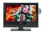 "Supersonic 13"" WIDESCREEN LED HDTV WITH BUILT-IN DVD PLAYER Logo Printed"