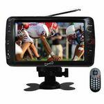 "Supersonic Portable 7"" LCD TV with Built in Digital Tuner and Antenna Rod, Rechargeable Battery. Com Custom Branded"